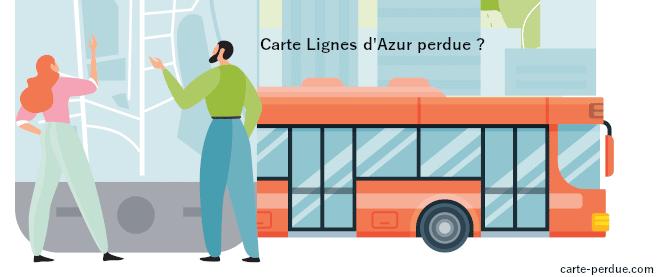 Carte Lignes d'Azur Perdue