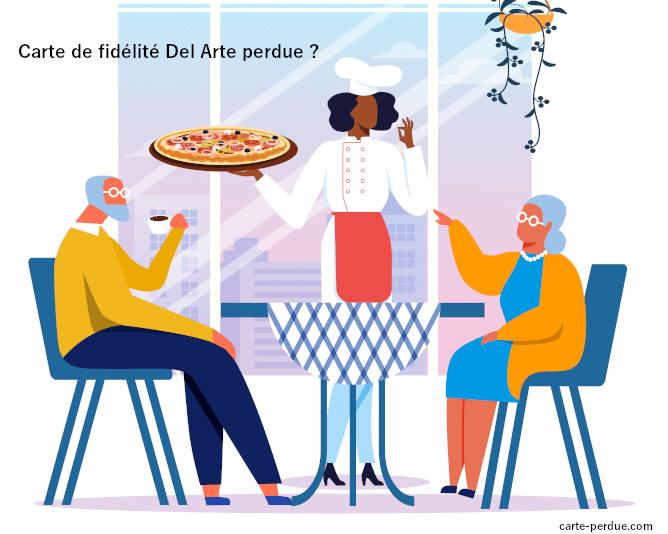 Vous avez perdu votre carte de fidélité des restaurants Del Arte ?