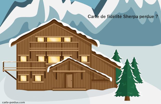 Carte de fidélité Sherpa Perdue, que faire ?