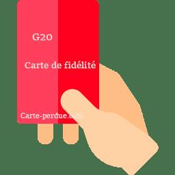 G20 Carte Perdue