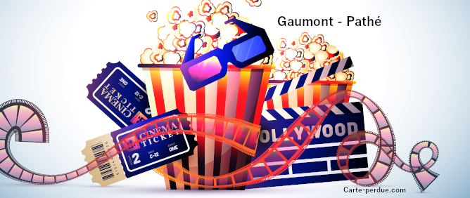 Gaumont Pathé Carte d'abonnement perdue