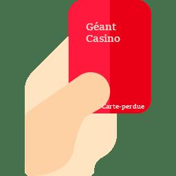 Géant Casino Carte Perdue