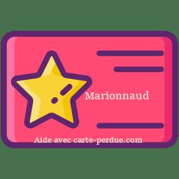 Marionnaud Carte Perdue
